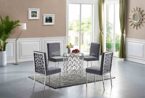 Sofiana 5pc Dining Room Set: Table and 4 Chairs- FDCMF70736GY