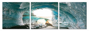 "Blue Ice 3-Panel Wall Art - 24"" x 24""H (each) - 72"" x 24""H"