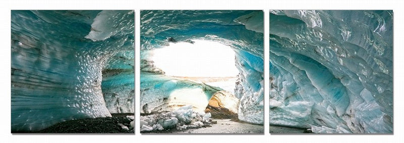Blue Ice 3-Panel Wall Art - 24