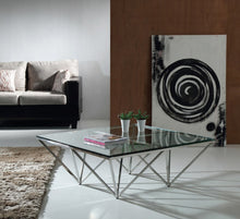 Braxton Contemporary Glass Coffee Table