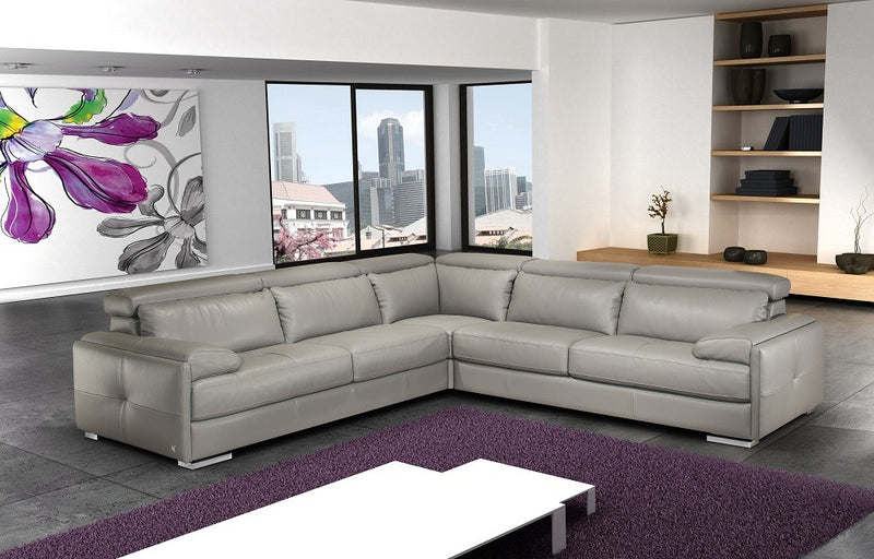 Silvana Italian Leather Sectional