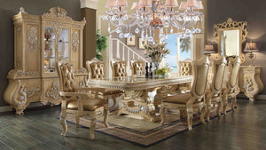 Chateau Royale Dining Room Collection - 7pc Set: Table, 4 Side Chairs, 2 Arm Chairs