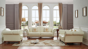 Denver Ivory Living Room Group (Sofa)