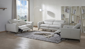 Dennan Motion Premium Leather - 2pc Set: Sofa, Loveseat