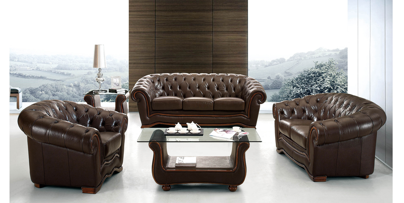 Burgos Full Leather Living Room Group (Sofa)