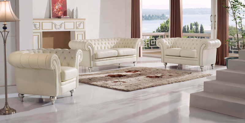 Seville Leather Living Room Group (Sofa)