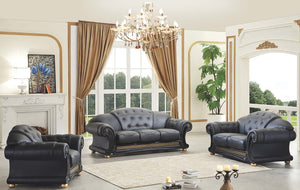 Casablanca Black Living Room Collection (Sofa)