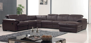 Marseille Leather Sectional with Recliner