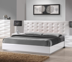 Royalty Bedroom Collection - 5pc Queen Bed, Dresser and Mirror