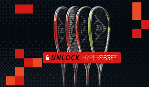 Dunlop squash rackets with new technology
