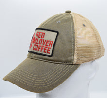 Load image into Gallery viewer, Legacy Trucker Hat: Embroidered Patch - Red Clover Coffee