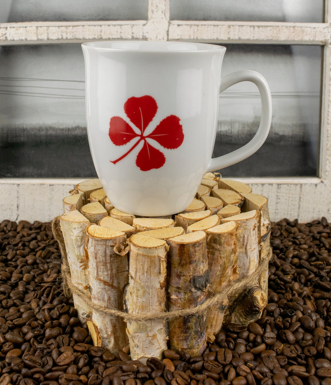 12 oz. Tapered Bistro Mug - Red Clover Coffee