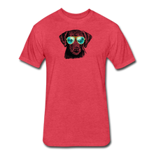 Load image into Gallery viewer, Fitted Cotton/Poly T-Shirt by Next Level - heather red