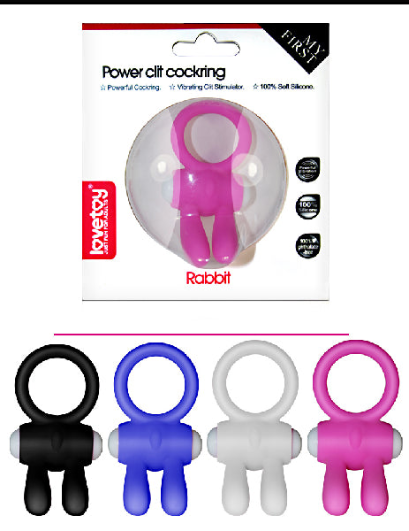 Power Clit Cockring Rabbit White