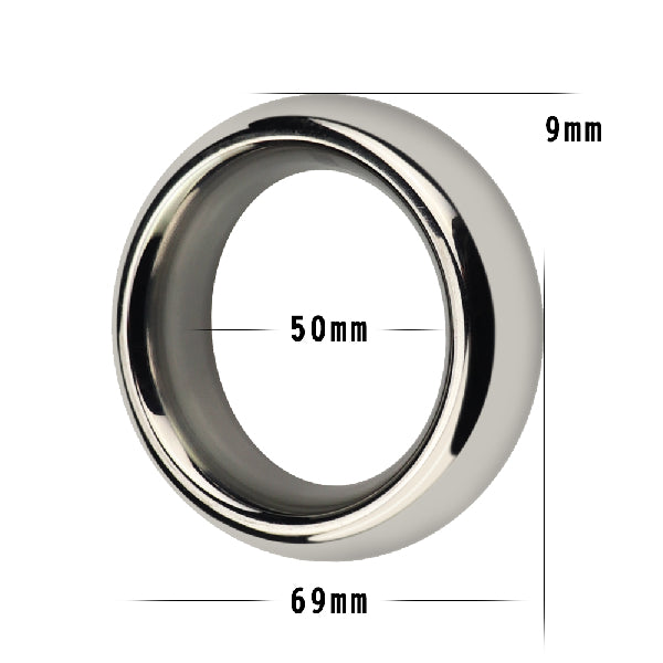 Stainless Steel Silver Cockring 2 in
