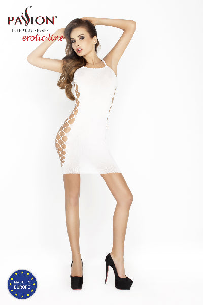 Mini Dress White with Open Sides