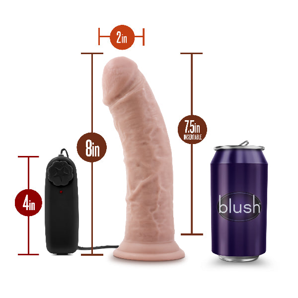 Dr Skin Dr Joe 8 Inch Vibrating Cock with Suction Cup Vanilla