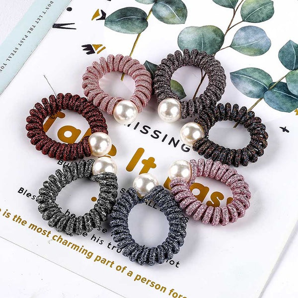 Headwear Big Imitation Pearl Hair Stretch Hair Band Accessories