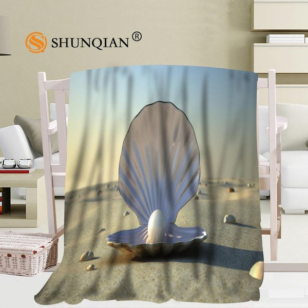 Custom Pearl Portable Soft Blanket Bed Plane Travel