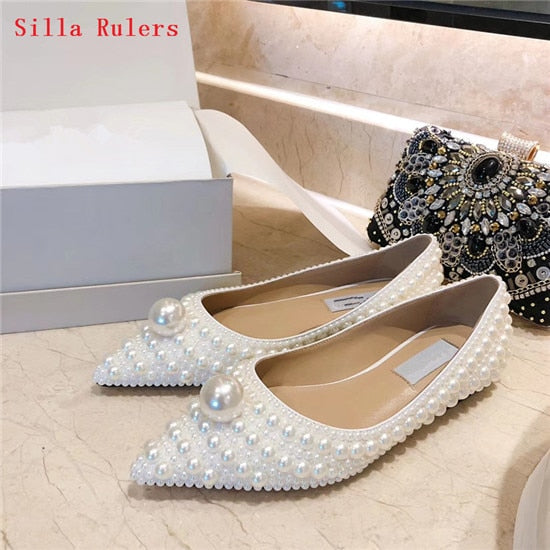 Pearl Beaded flat & high heels