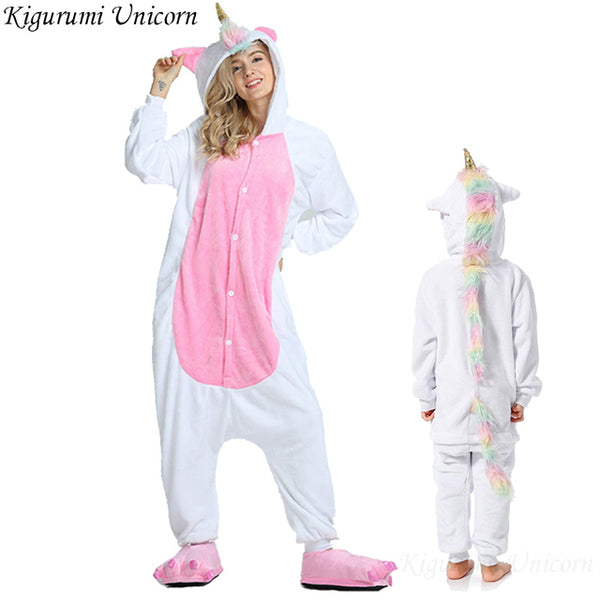 Adult Fun Unicorn & animal Onesie Flannel Pajamas