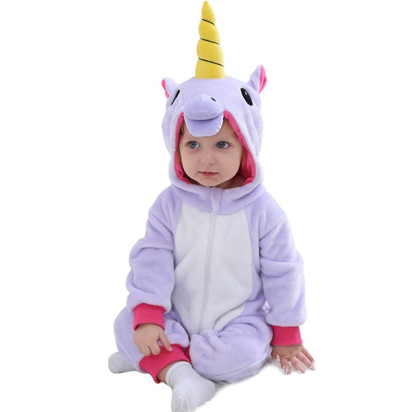 Unicorn & animal Baby Rompers onsies pajamas sizes 3m-9m