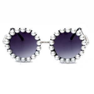 Pearl Round Sunglasses with pearsl Vintage Sunglasses