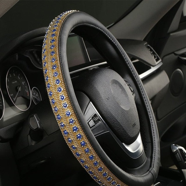 Universal 38CM Colored Pearl Car Steering Wheel Cover