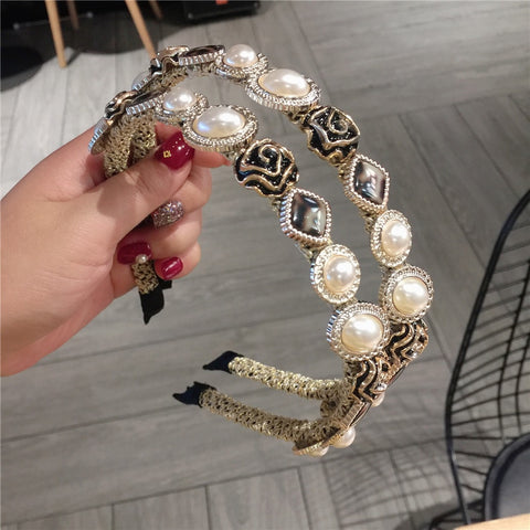 Elegant Women Pearls Headbands