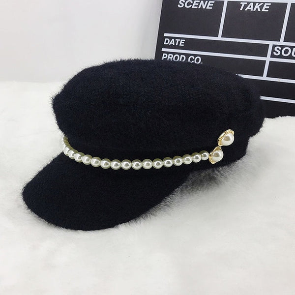 Warm White winter caps pearl Band Fur