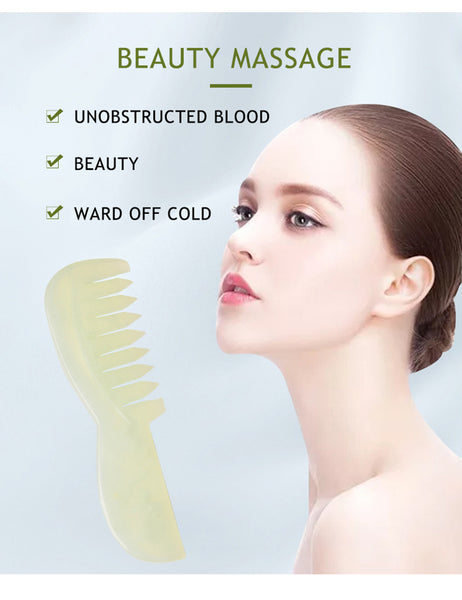 Hair Comb Jade Massage Comb Head Massager