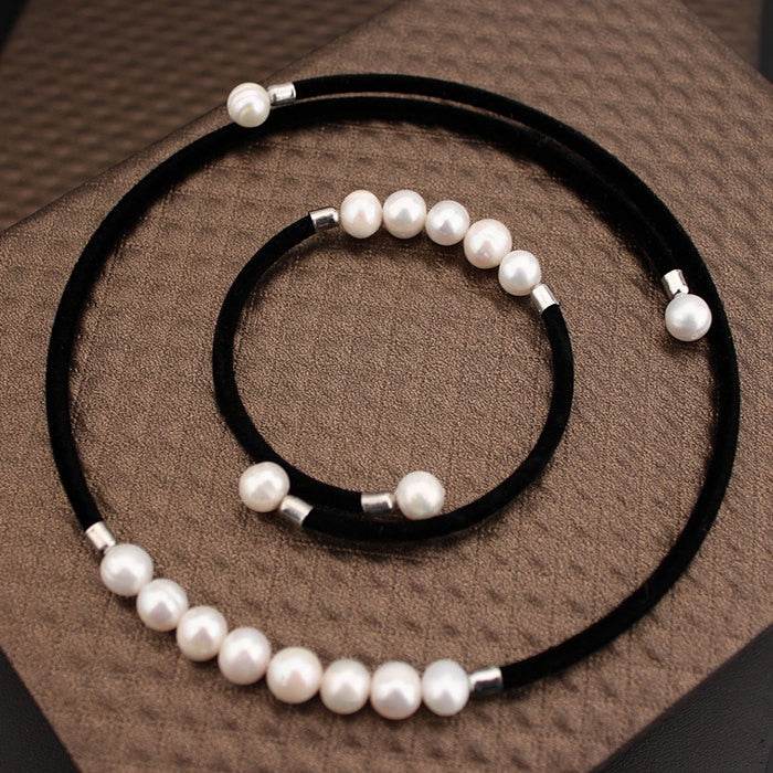 100% Real Natural Fresh Water Pearl Jewelry set For Women