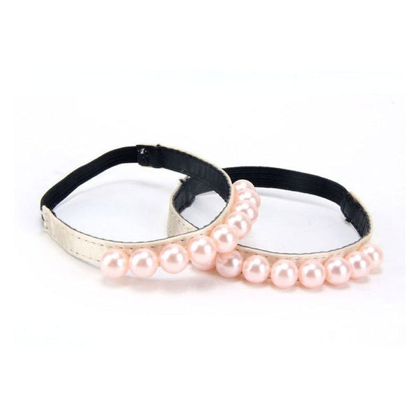 Imitation Pearl  Shoe Accessory Decoration Elastic Straps For Women 1 Pair