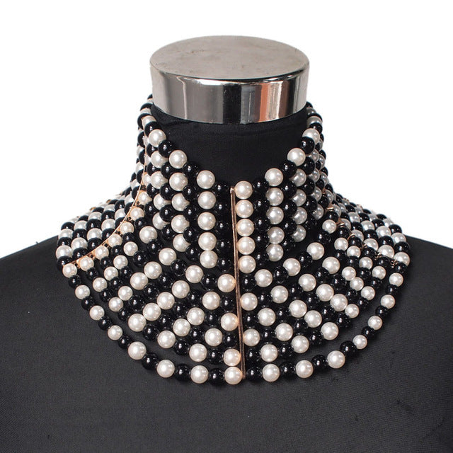 Imitation Pearl Statement Necklaces