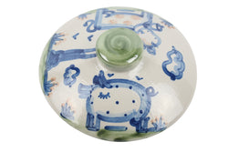 2 Qt. Casserole Lid - Cow And Pig