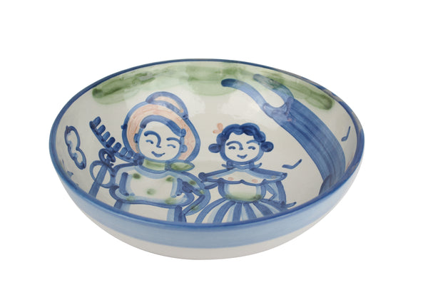 "11"" Regular Bowl - Farmer And Wife"