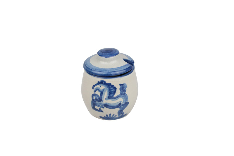 Medium Sugar Bowl - Blue Horse