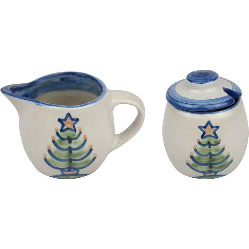 Cream & Sugar Set - Christmas Tree