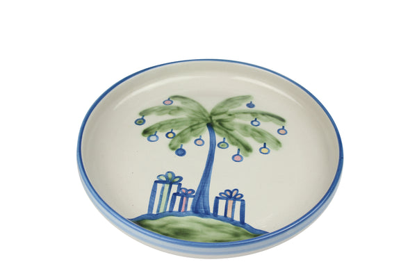"12"" Rimmed Platter - Decorated Palm Tree"