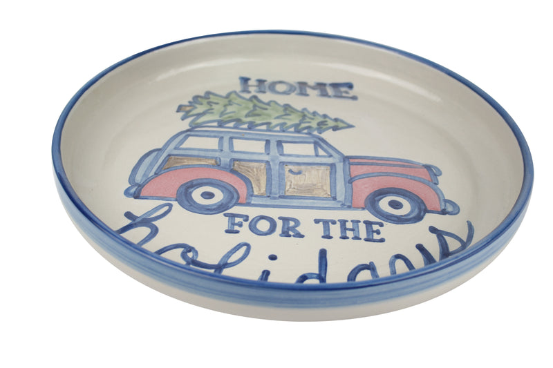 "12"" Rimmed Platter - Home For The Holidays"
