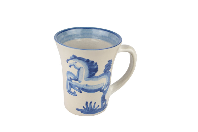Personalized 12 Oz. Flare Mug - Blue Horse