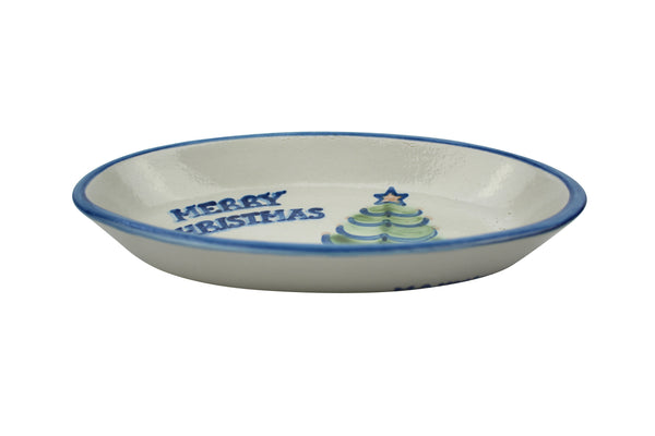 "9"" Oval Platter - Merry Christmas"