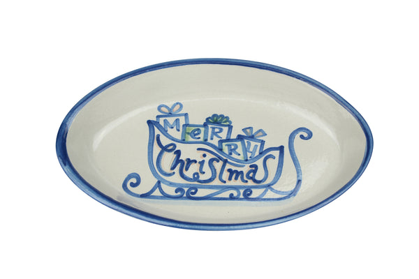 "10.5"" Oval Platters - Merry Christmas"