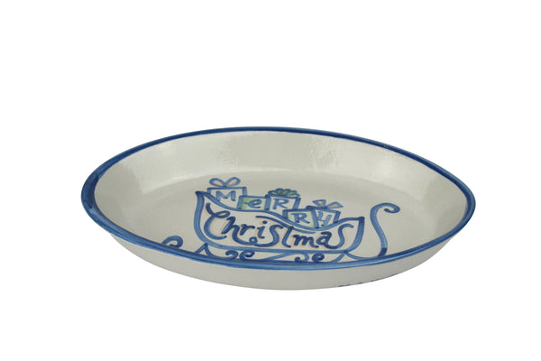 "10.5"" Oval Platters - Blue Horse"