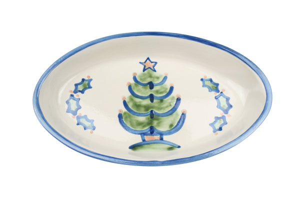 "10.5"" Oval Platters - Christmas Tree"