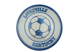 "Personalized 11"" Plate - Soccer Ball (2 lines)"