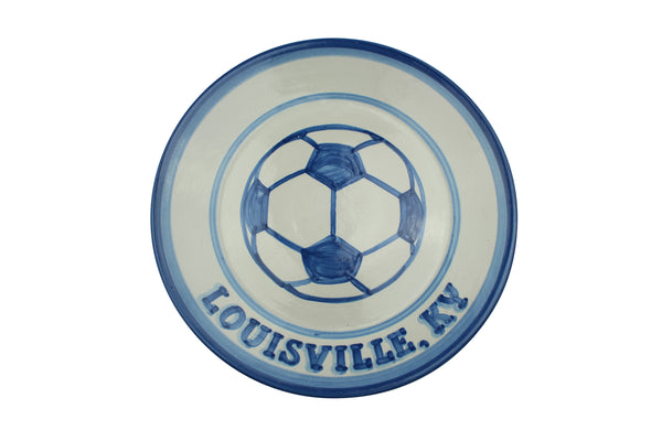 "Personalized 11"" Plate - Soccer Ball (1 lines)"