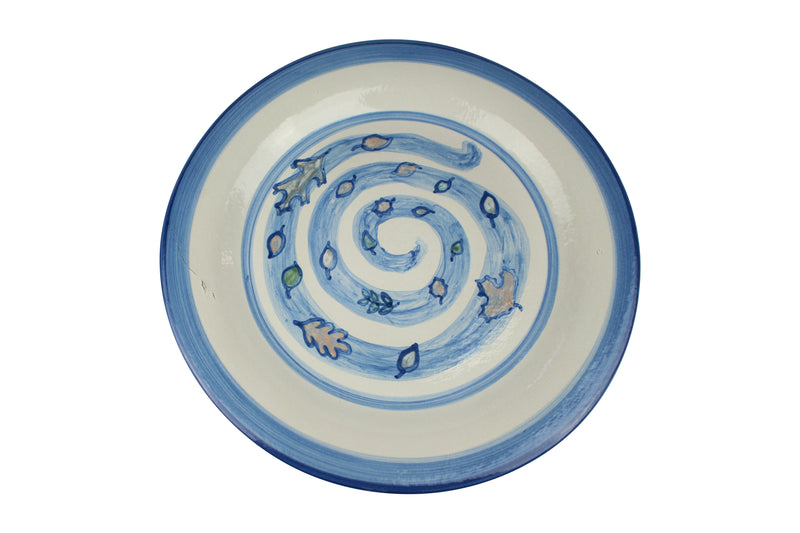 "13"" Serving Plate - Blustery Leaves"
