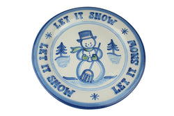 "13"" Round Platter (With Lettering) - Let It Snow"