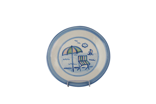 "9"" Lunch Plate - Beach Umbrella"